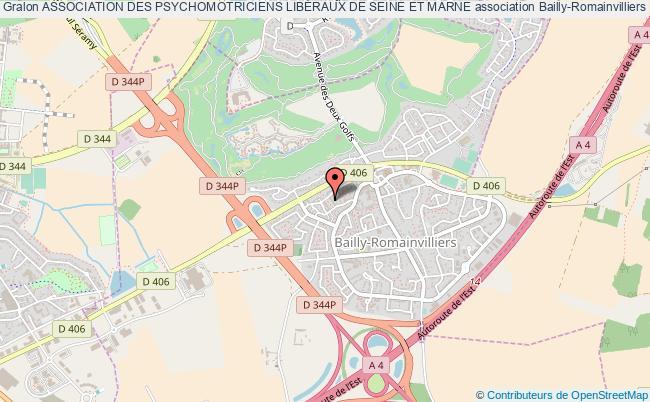 plan association Association Des Psychomotriciens LibÉraux De Seine Et Marne Bailly-Romainvilliers