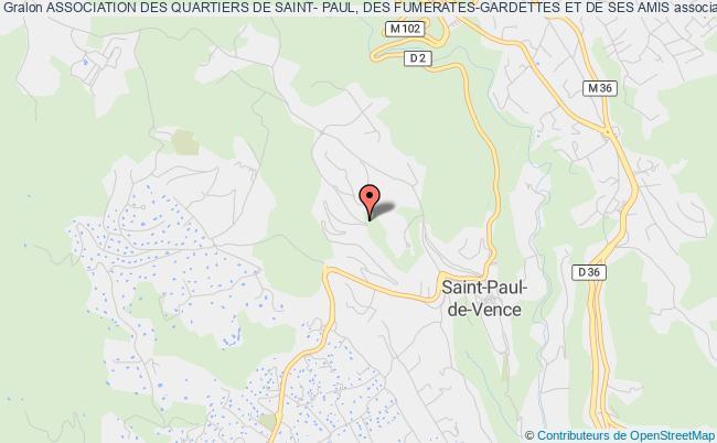 plan association Association Des Quartiers De Saint- Paul, Des Fumerates-gardettes Et De Ses Amis