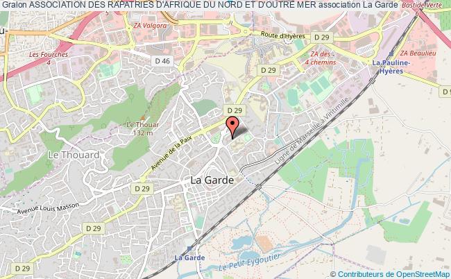 plan association Association Des Rapatries D'afrique Du Nord Et D'outre Mer