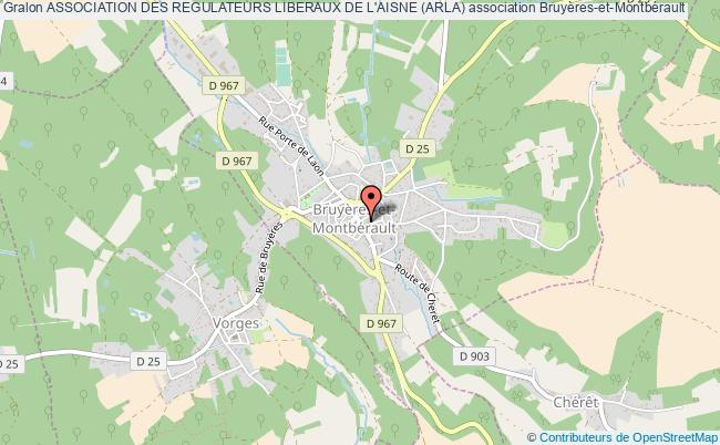 plan association Association Des Regulateurs Liberaux De L'aisne (arla)