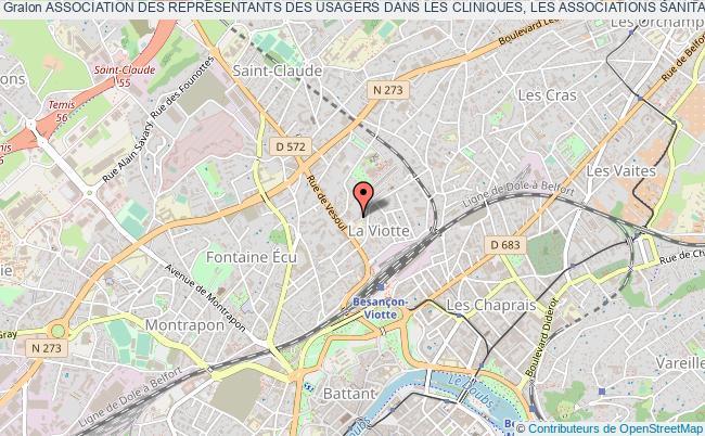 plan association Association Des ReprÉsentants Des Usagers Dans Les Cliniques, Les Associations Sanitaires Et HÔpitaux De Bourgogne Franche-comtÉ (arucah Bourgogne Franche-comtÉ)