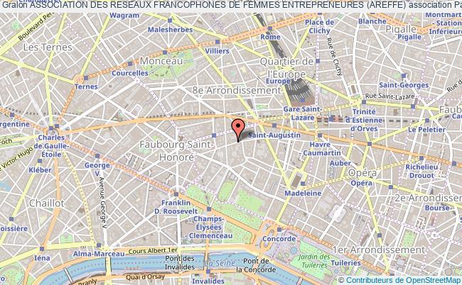 plan association Association Des Reseaux Francophones De Femmes Entrepreneures (areffe) Paris