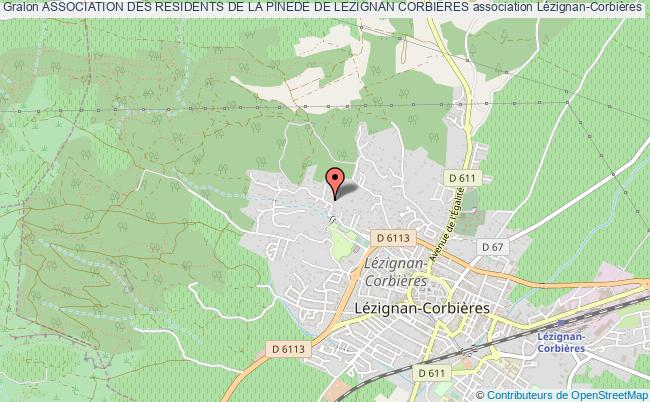 plan association Association Des Residents De La Pinede De Lezignan Corbieres Lézignan-Corbières
