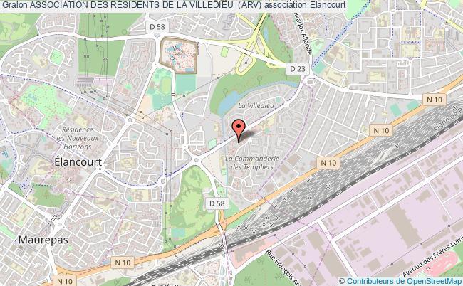 plan association Association Des RÉsidents De La Villedieu  (arv) Élancourt