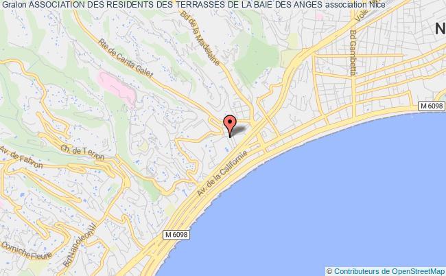plan association Association Des Residents Des Terrasses De La Baie Des Anges Nice