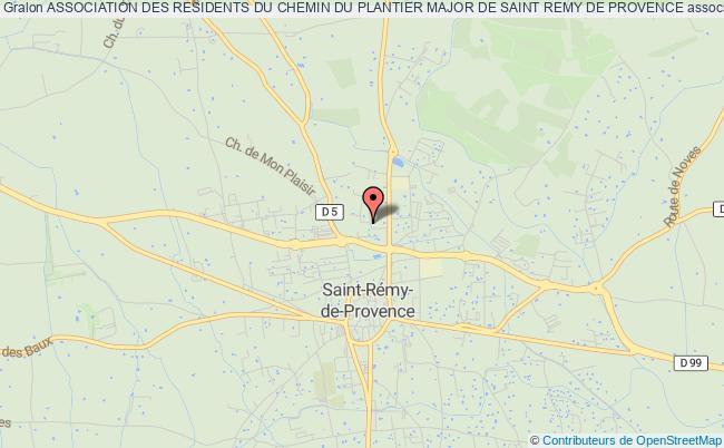 plan association Association Des Residents Du Chemin Du Plantier Major De Saint Remy De Provence