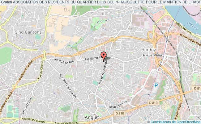 plan association Association Des RÉsidents Du Quartier Bois Belin-hausquette Pour Le Maintien De L'habitat Individuel