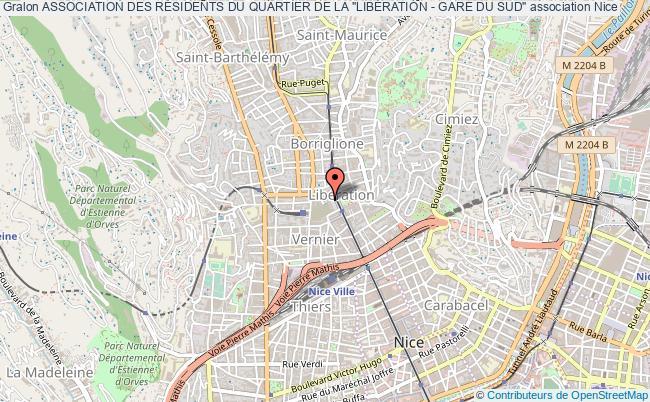 """plan association Association Des RÉsidents Du Quartier De La """"libÉration - Gare Du Sud"""""""