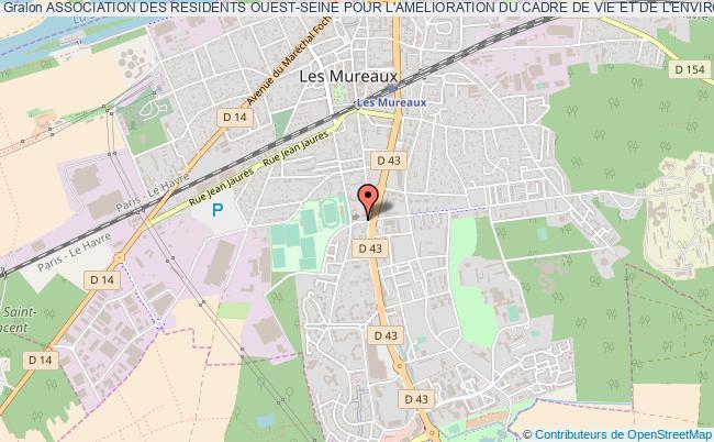 plan association Association Des Residents Ouest-seine Pour L'amelioration Du Cadre De Vie Et De L'environnement Les   Mureaux