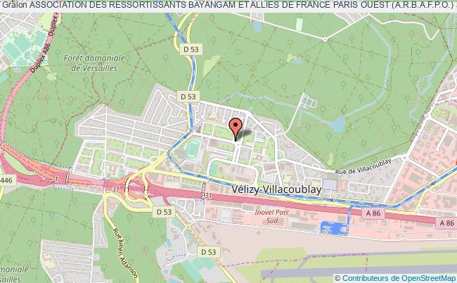 plan association Association Des Ressortissants Bayangam Et Allies De France Paris Ouest (a.r.b.a.f.p.o.)