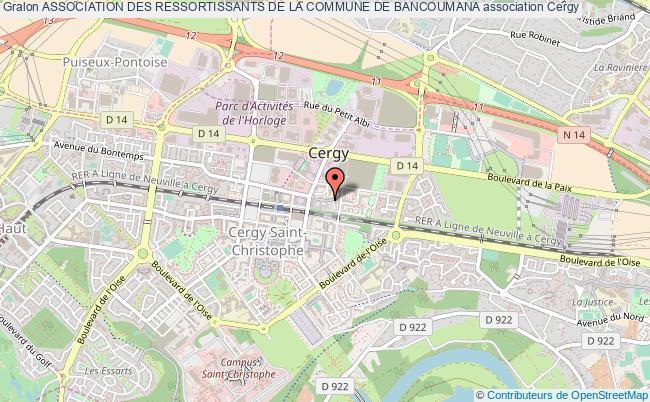 plan association Association Des Ressortissants De La Commune De Bancoumana Cergy-Saint-Christophe