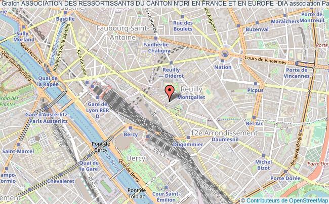plan association Association Des Ressortissants Du Canton N'dri En France Et En Europe -dia Paris