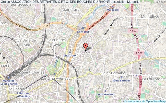 plan association Association Des RetraitÉs C.f.t.c. Des Bouches-du-rhÔne