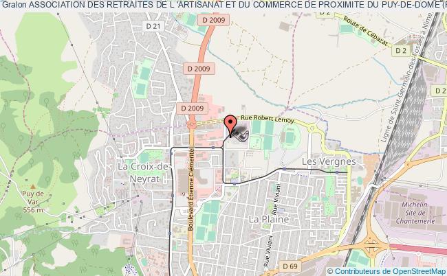 plan association Association Des Retraites De L 'artisanat Et Du Commerce De Proximite Du Puy-de-dome (fenarac 63)