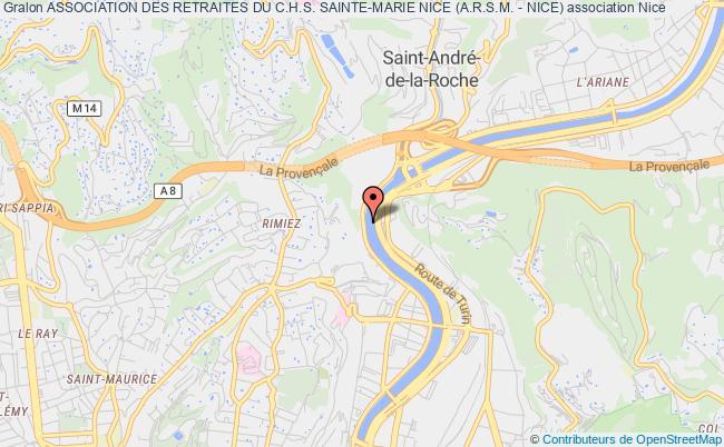 plan association Association Des Retraites Du C.h.s. Sainte-marie Nice (a.r.s.m. - Nice) Nice