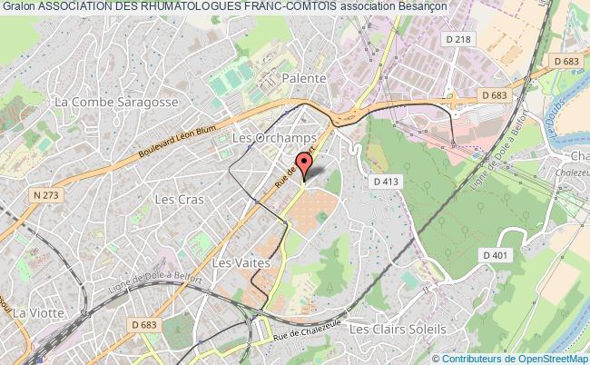 plan association Association Des Rhumatologues Franc-comtois