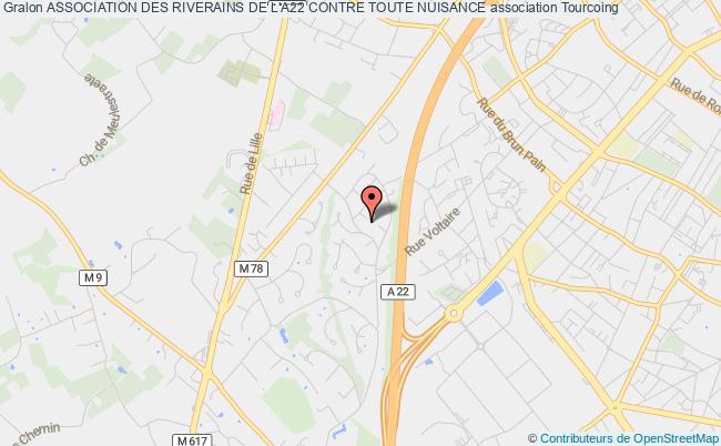 plan association Association Des Riverains De L'a22 Contre Toute Nuisance Tourcoing