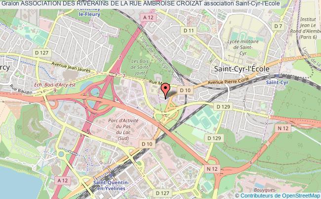 plan association Association Des Riverains De La Rue Ambroise Croizat Saint-Cyr-l'École