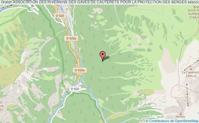 plan association Association Des Riverains Des Gaves De Cauterets Pour La Protection Des Berges