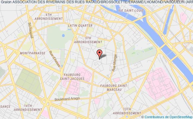 plan association Association Des Riverains Des Rues Rataud/brossolette/erasme/lhomond/vauquelin (arrbelv)