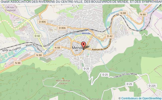 """plan association Association Des Riverains Du Centre-ville, Des Boulevards De Mende, Et Des Sympathisants """"c?ur De Mende"""""""