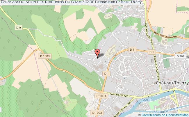 plan association Association Des Riverains Du Champ Cadet