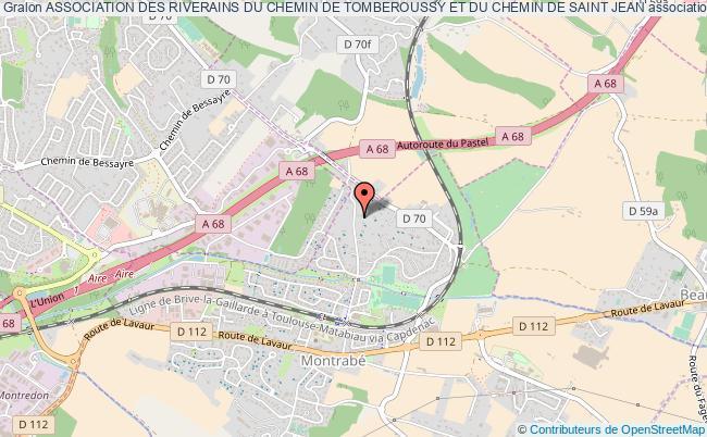 plan association Association Des Riverains Du Chemin De Tomberoussy Et Du Chemin De Saint Jean Montrabé