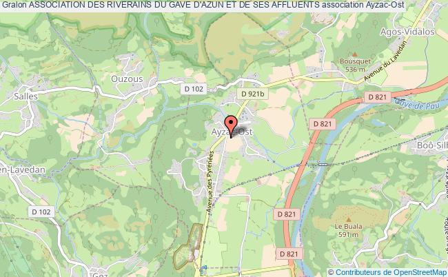 plan association Association Des Riverains Du Gave D'azun Et De Ses Affluents Ayzac-Ost