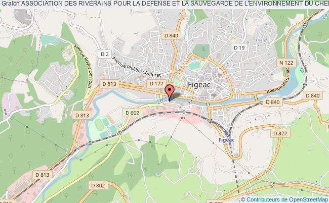 plan association Association Des Riverains Pour La Defense Et La Sauvegarde De L'environnement Du Chemin De L'aiguille A Couquet.
