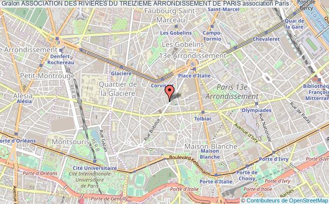 plan association Association Des Rivieres Du Treizieme Arrondissement De Paris
