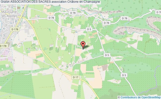 plan association Association Des Sacres Châlons-en-Champagne Cédex