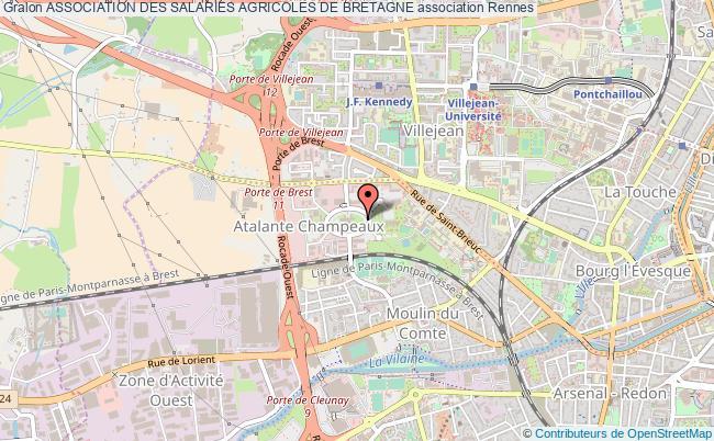 plan association Association Des Salaries Agricoles De Bretagne