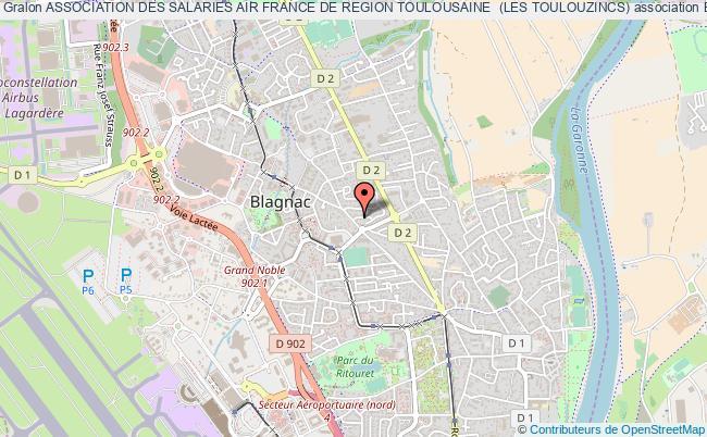plan association Association Des Salaries Air France De Region Toulousaine  (les Toulouzincs)