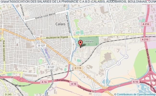 plan association Association Des Salaries De La Pharmacie C.a.b.d (calaisis, Audomarois, Boulonnais, Dunkerquois)