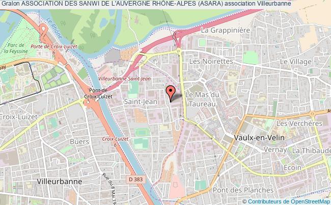 plan association Association Des Sanwi De L'auvergne RhÔne-alpes (asara)