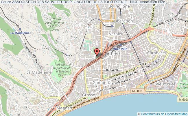 plan association Association Des Sauveteurs Plongeurs De La Tour Rouge - Nice Nice