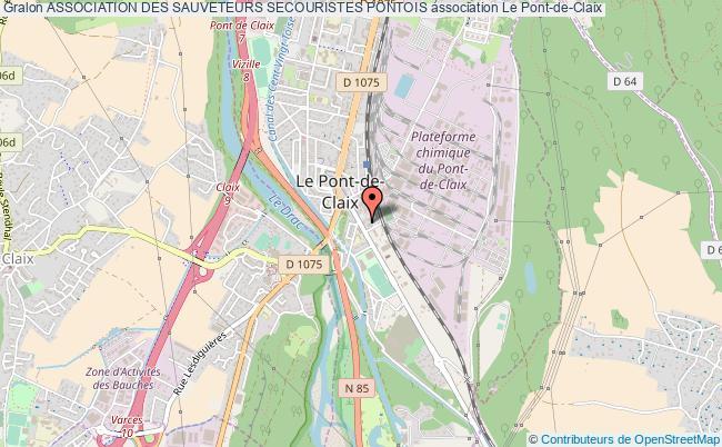 plan association Association Des Sauveteurs Secouristes Pontois Le    Pont-de-Claix