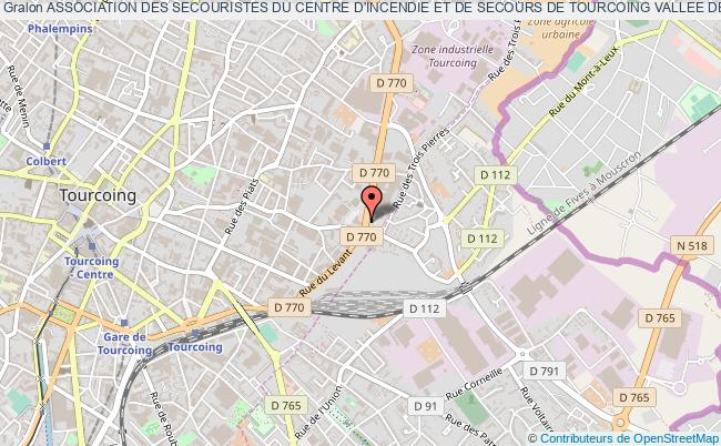 plan association Association Des Secouristes Du Centre D'incendie Et De Secours De Tourcoing Vallee De La Lys Tourcoing