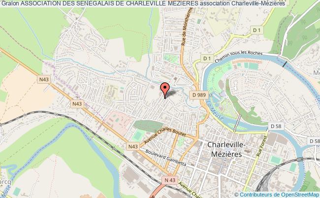 plan association Association Des Senegalais De Charleville Mezieres