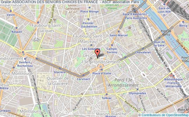 plan association Association Des Seniors Chinois En France  - Ascf
