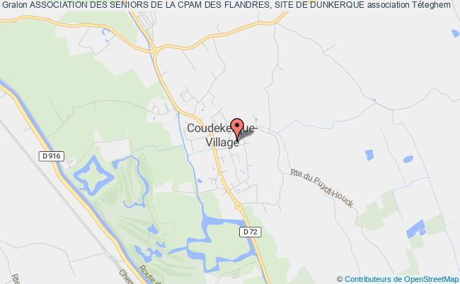 plan association Association Des Seniors De La Cpam Des Flandres, Site De Dunkerque Coudekerque-Village