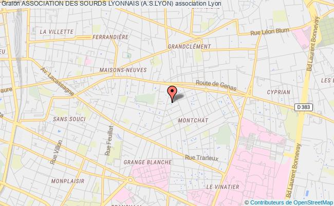 plan association Association Des Sourds Lyonnais (a.s.lyon)