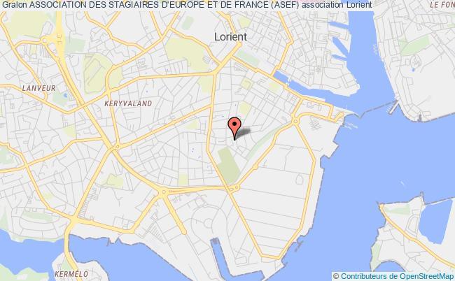 plan association Association Des Stagiaires D'europe Et De France (asef)