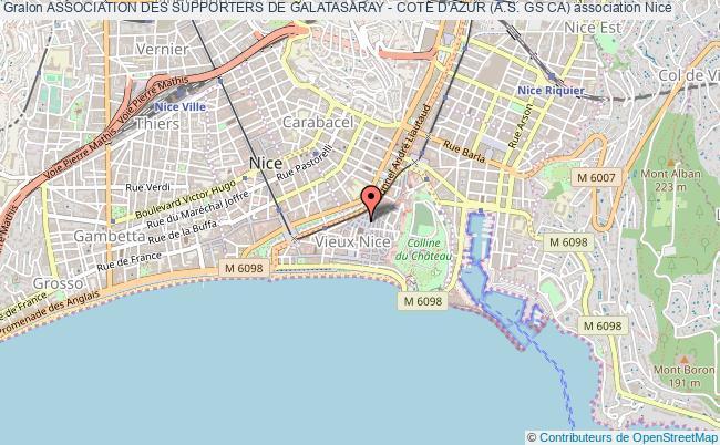 plan association Association Des Supporters De Galatasaray - Cote D'azur (a.s. Gs Ca) Nice