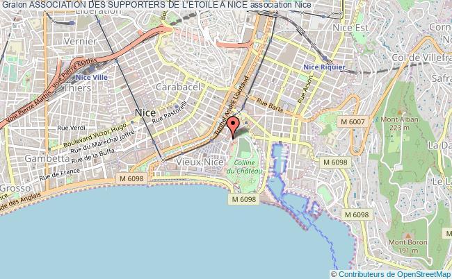 plan association Association Des Supporters De L'etoile A Nice