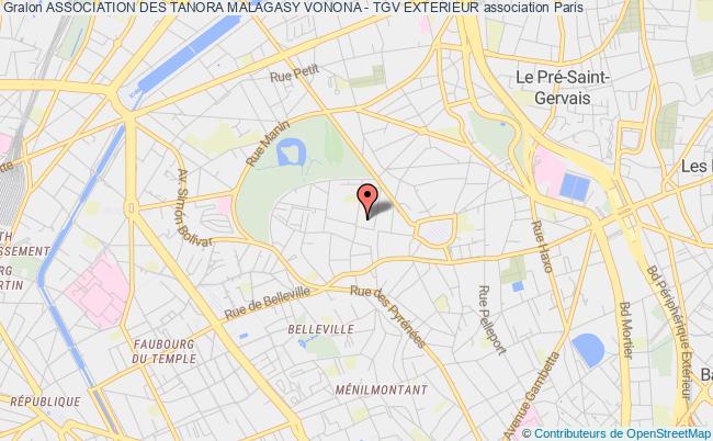 plan association Association Des Tanora Malagasy Vonona - Tgv Exterieur
