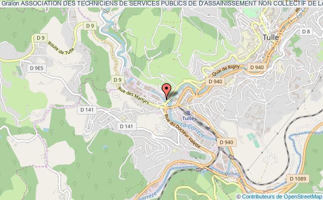 """plan association Association Des Techniciens De Services Publics De D'assainissement Non Collectif De La Correze """"atanc Correze"""""""