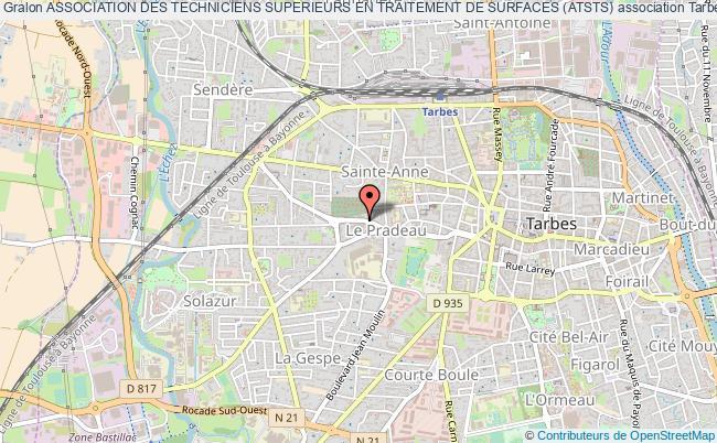 plan association Association Des Techniciens Superieurs En Traitement De Surfaces (atsts) Tarbes