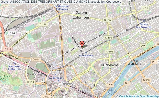plan association Association Des TrÉsors Artistiques Du Monde Courbevoie