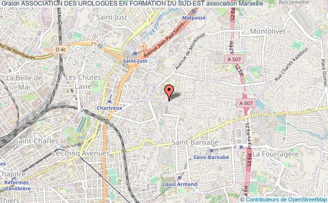 plan association Association Des Urologues En Formation Du Sud-est Marseille